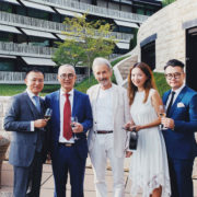Mr. Hans Maier-Aichen, Designer, Cuator and Professor for Product Design (middle) Mrs. Xiaodan Liu, Secretary General of C-Foundation (second on the right) Mr. Wei Wu, Design Director of Wuwei Design Studio and Co-founder of GHS Technology Co., Ltd (first on the right)